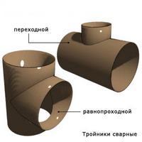 Тройник сварной переходной 1220х14-219х7 ОСТ 34-10-764-97 купить по цене от 92110 руб/шт.