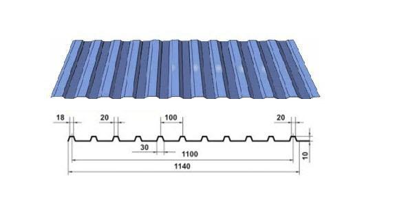 Профнастил С10-1100 с полимерным покрытием по каталогу RAL ...